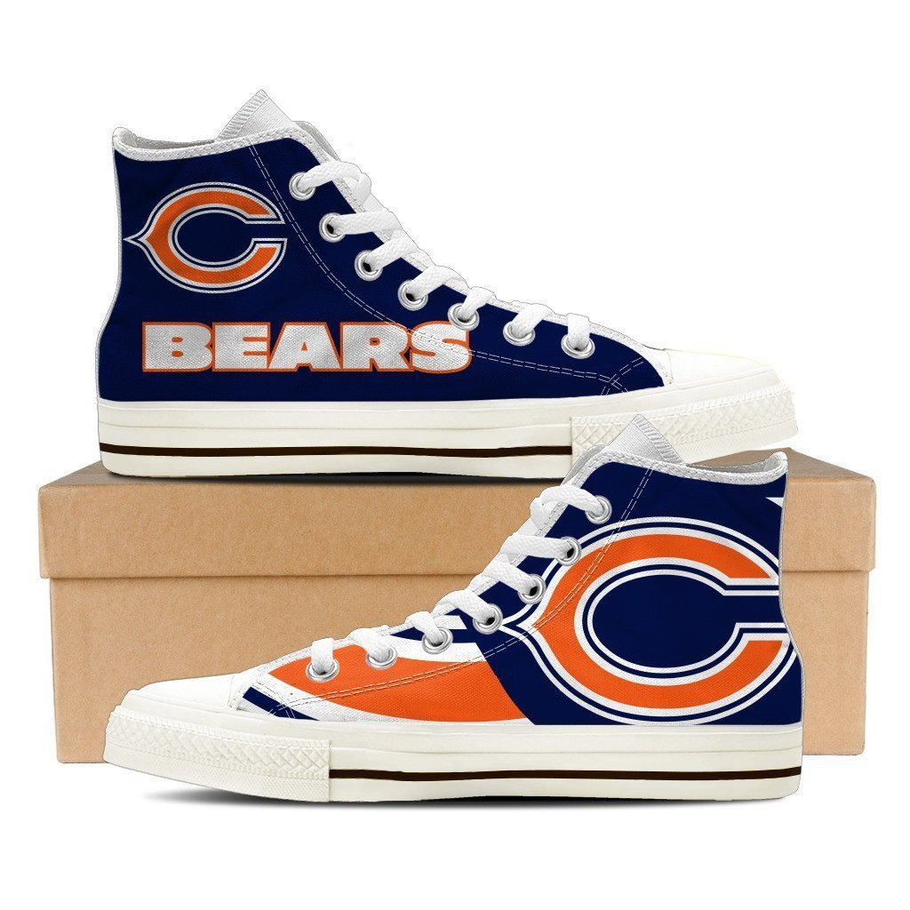 chicago bears ladies high top sneakers