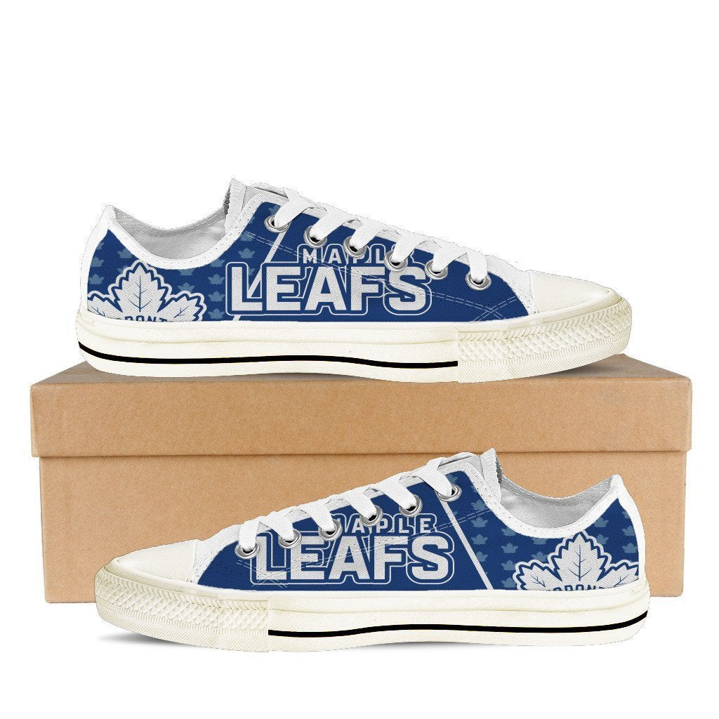 toronto maple leafs mens low cut sneakers cut