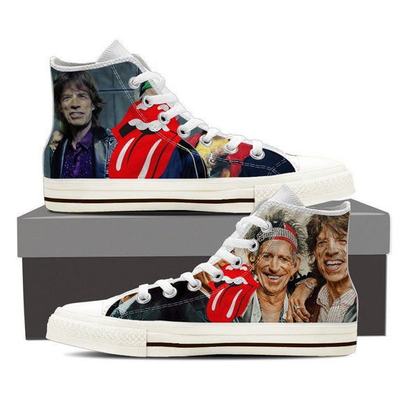 rolling stones mens high top sneakers