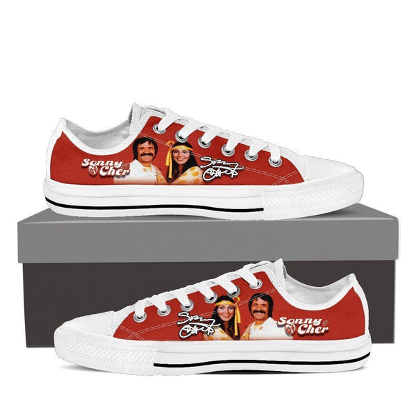 sonny and cher mens low cut sneakers