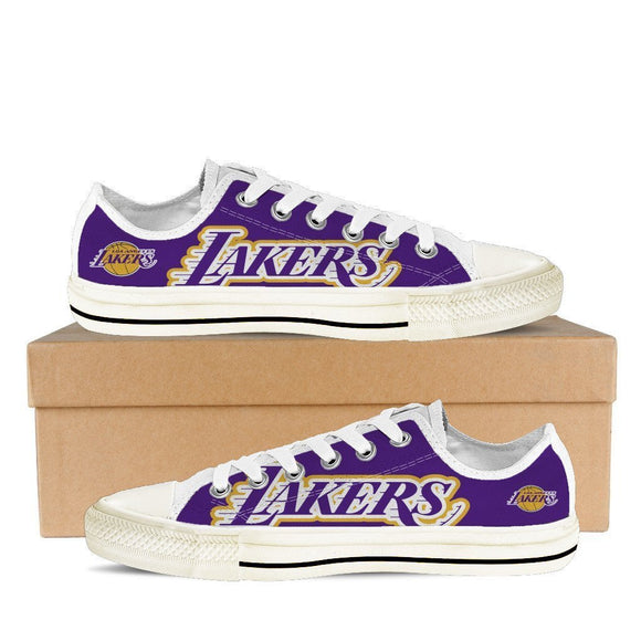 los angeles lakers mens low cut sneakers cut