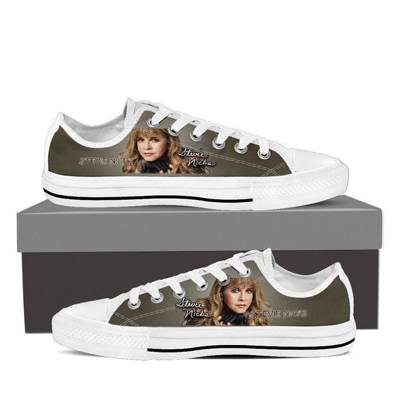 stevie nicks ladies low cut sneakers