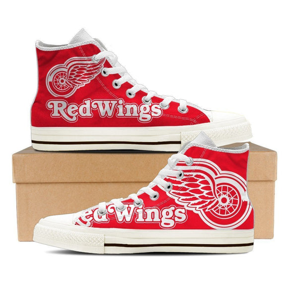 detroit red wings ladies high top sneakers