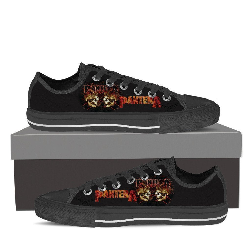 pantera band ladies low cut sneakers
