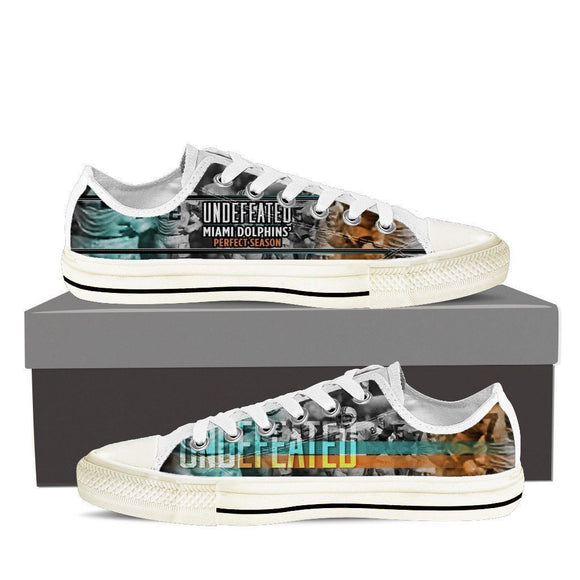 undefeated miami dolphins perfect season ladies low cut sneakers