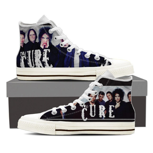 the cure mens high top sneakers