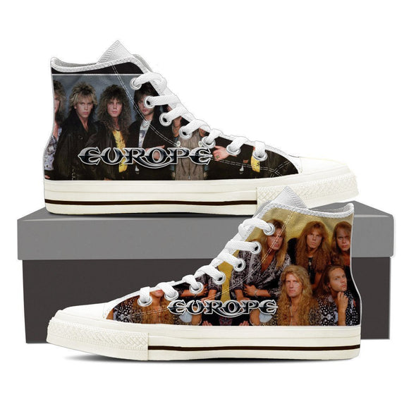 europe band mens high top sneakers