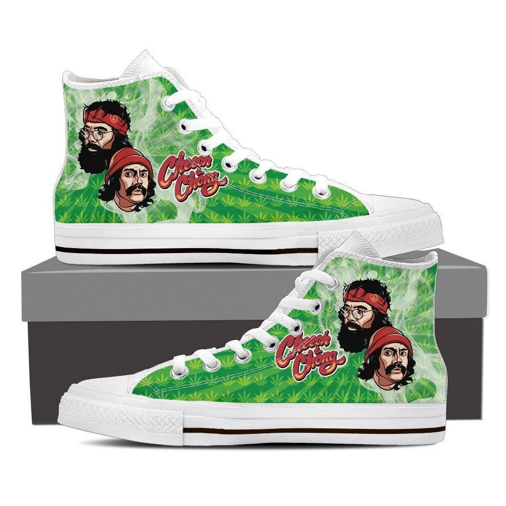 cheech and chong ladies high top sneakers