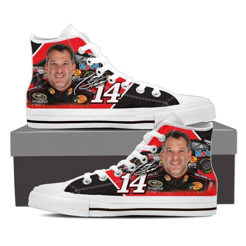 tony stewart mens high top sneakers