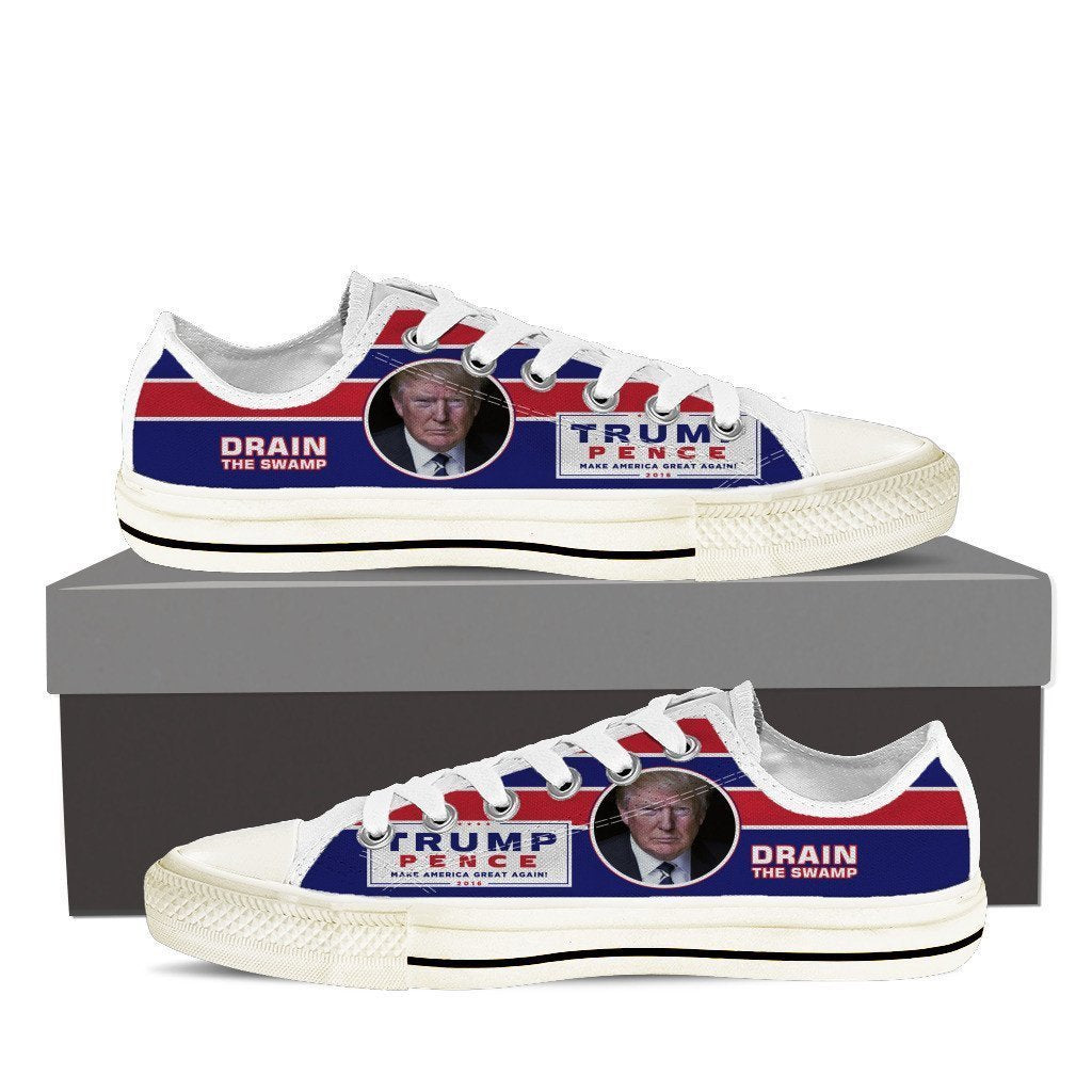 drain the swamp ladies low cut sneakers