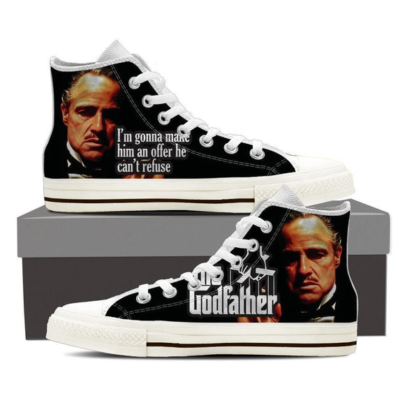 the godfather mens high top sneakers