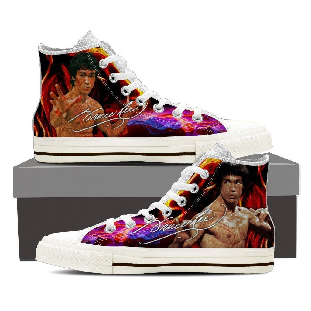 bruce lee  ladies high top sneakers