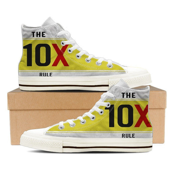 the 10x rule mens high top sneakers