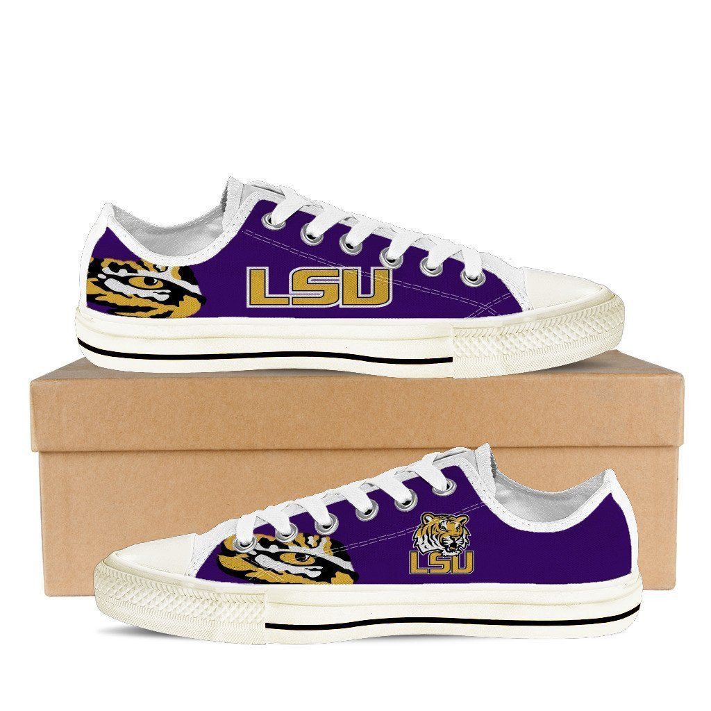 lsu tigers mens low cut sneakers cut
