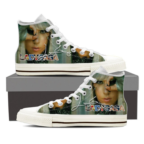 lady gaga mens high top sneakers