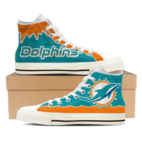 miami dolphins ladies high top sneakers