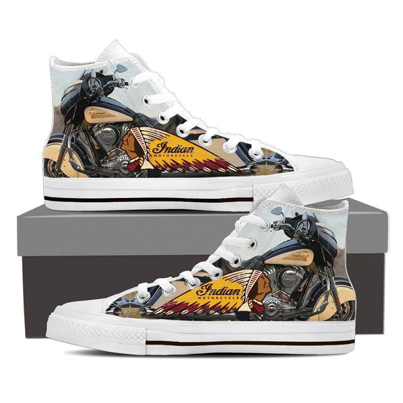 indian motorcylce new mens high top sneakers