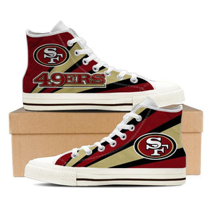 san francisco 49ers ladies high top sneakers