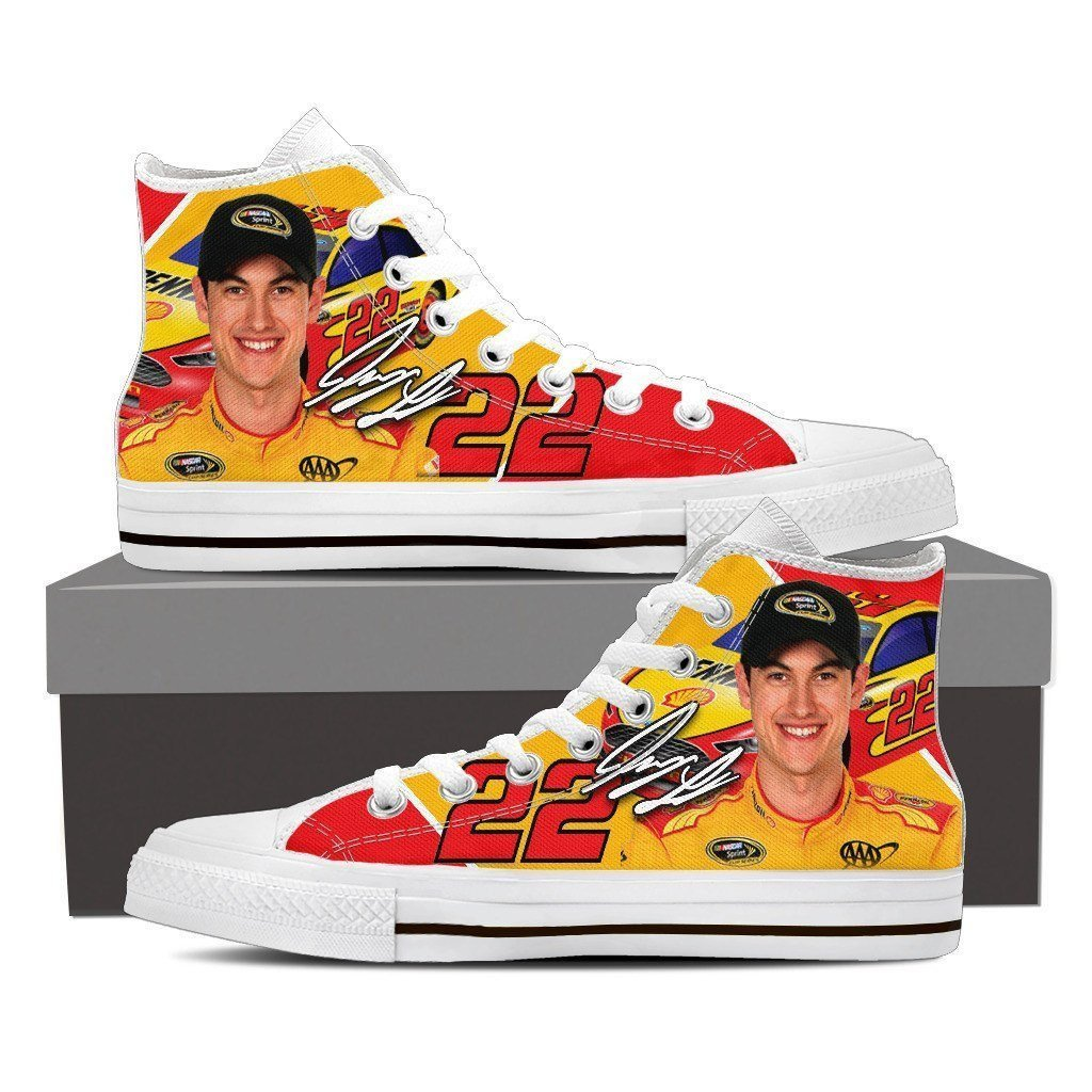 joey logano mens high top sneakers