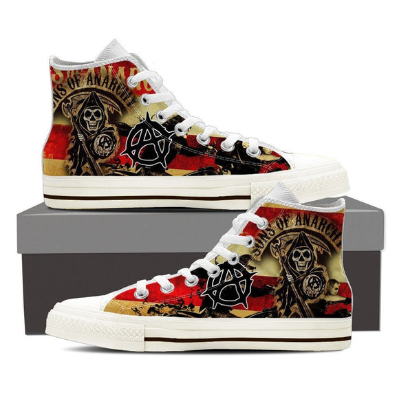 sons of anarchy mens high top sneakers high top