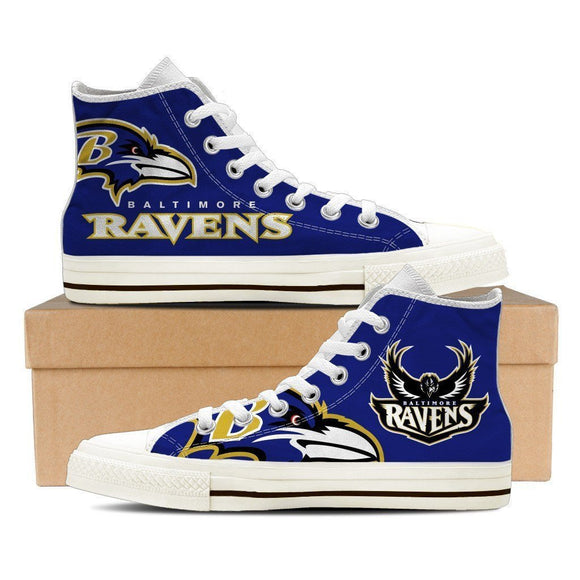 baltimore ravens ladies high top sneakers