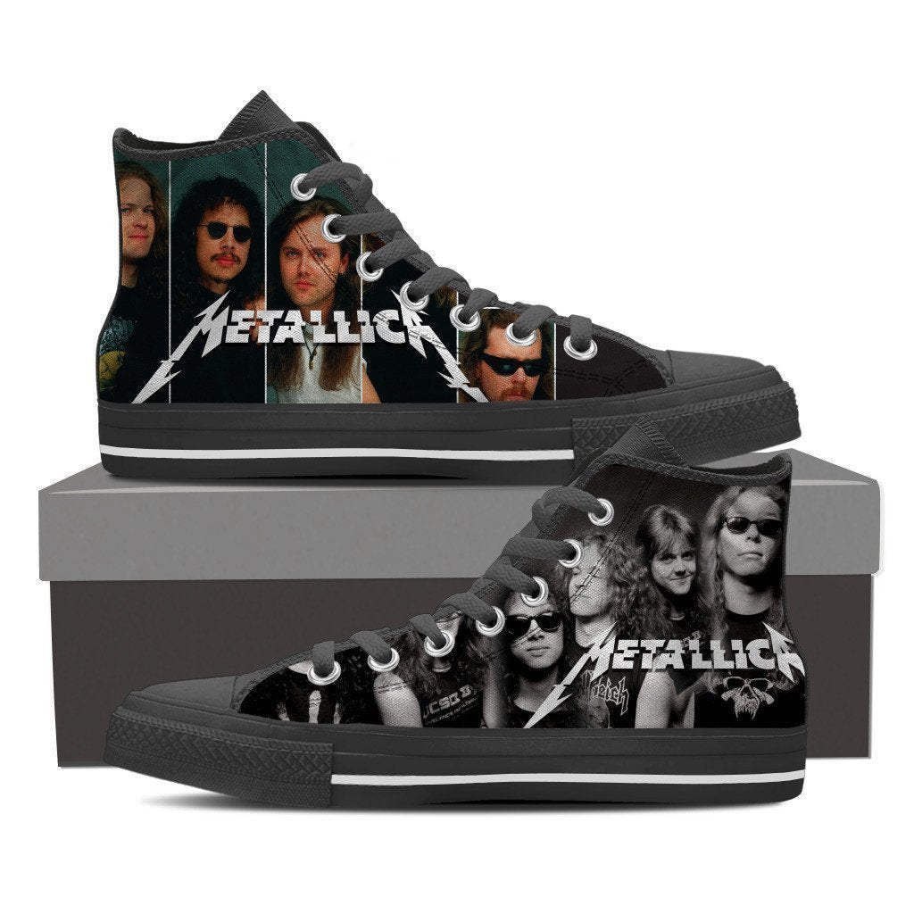 metallica mens high top sneakers