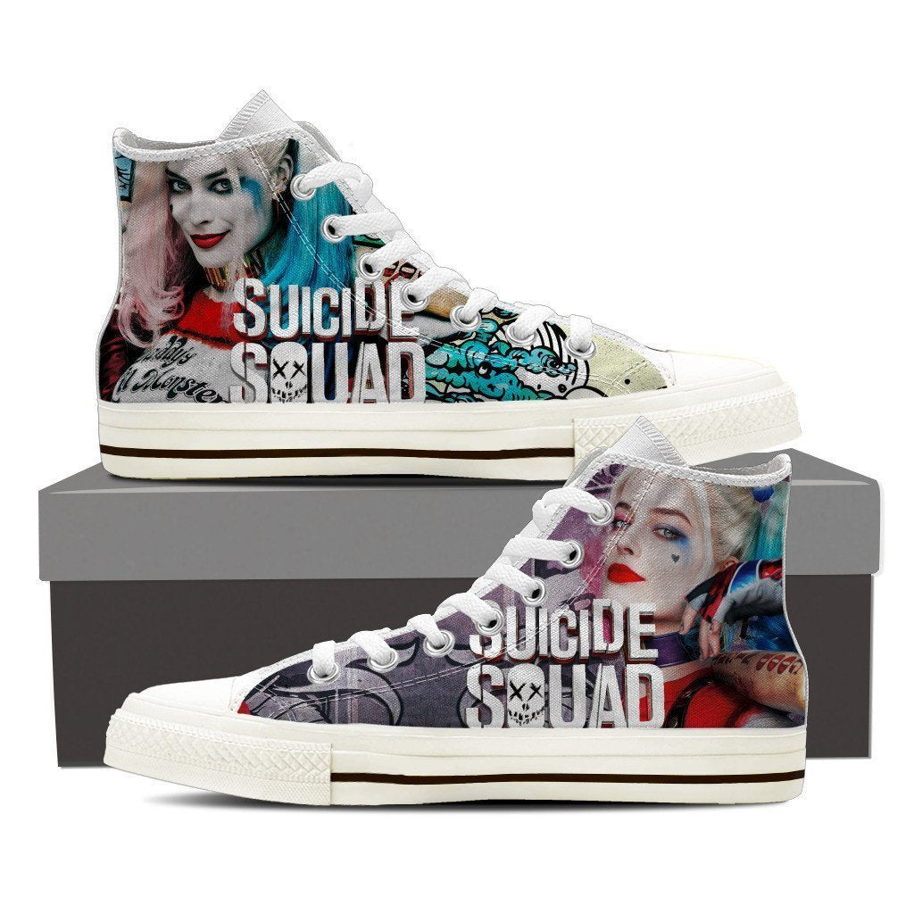 harley quinn mens high top sneakers