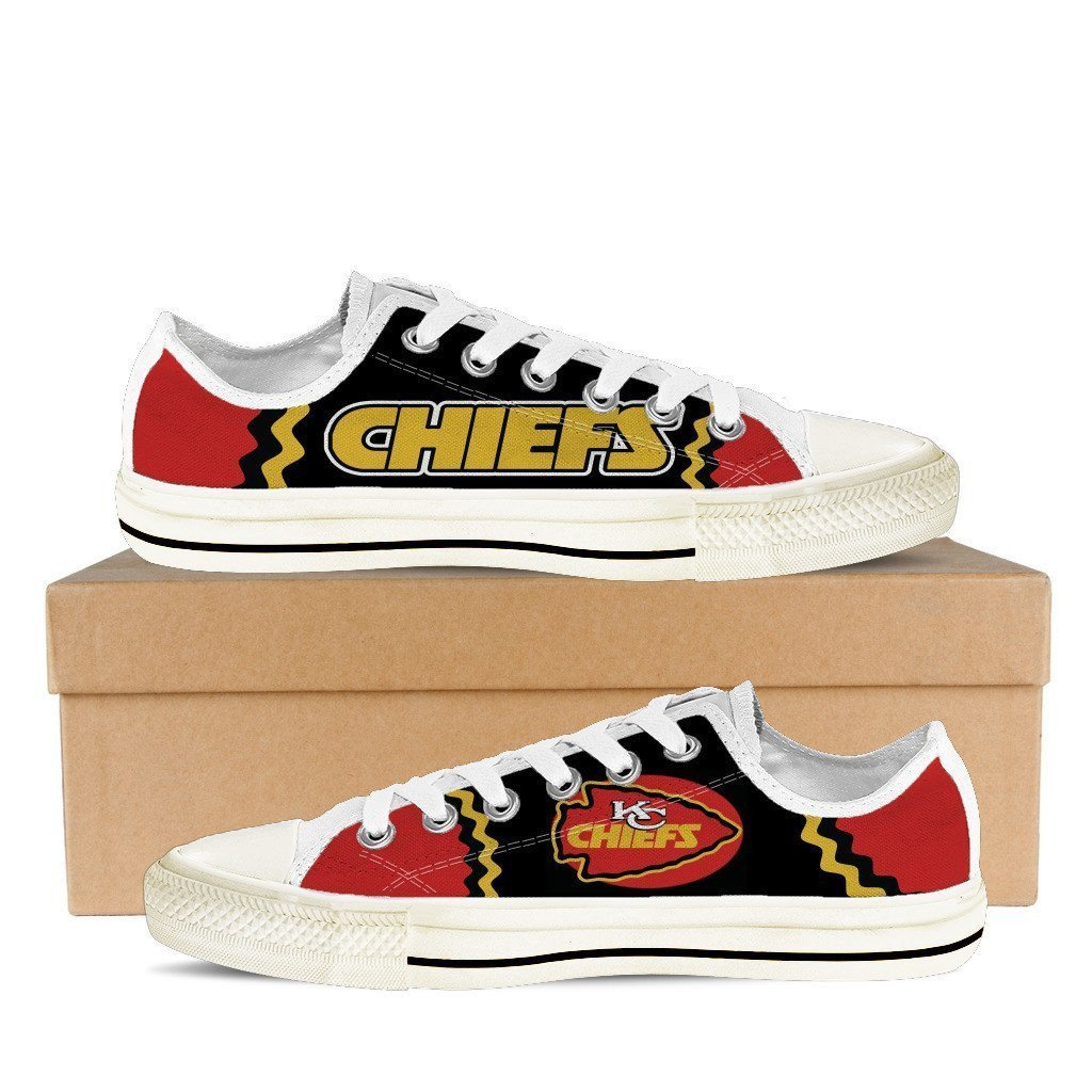 kansas chiefs mens low cut sneakers cut