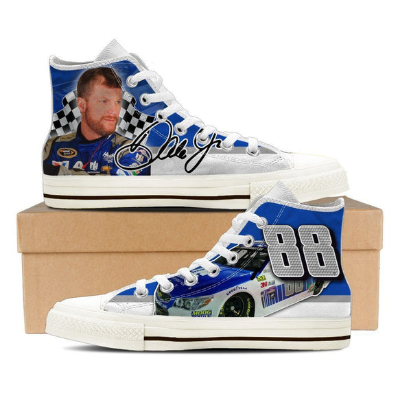 dale earnhardt jr nascar ladies high top sneakers