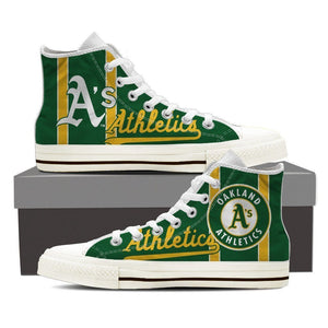 oakland athletics ladies high top sneakers