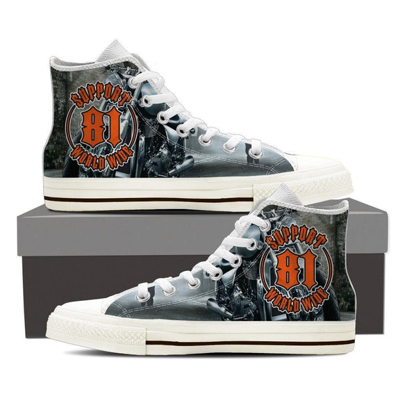 support 81 worldwide ladies high top sneakers