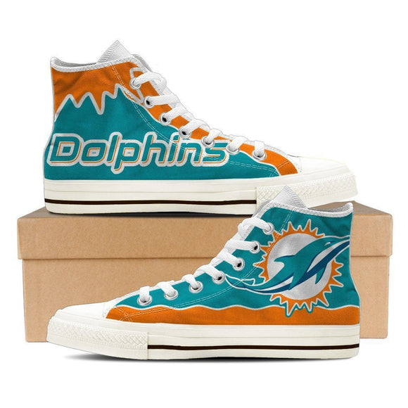 miami dolphins mens high top sneakers high top 2
