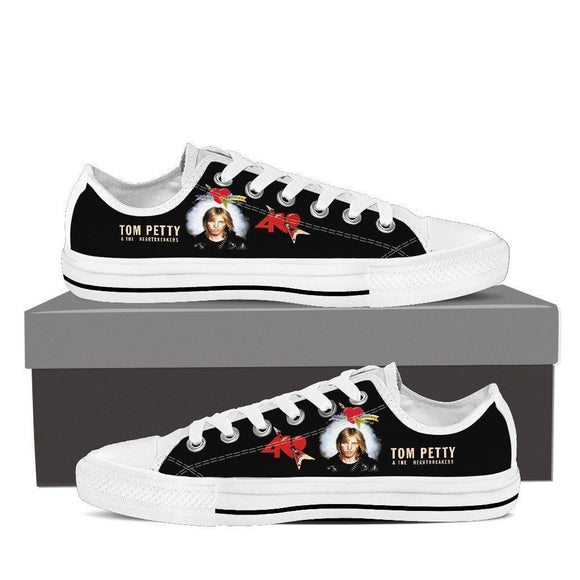 tom petty heartbreakers ladies low cut sneakers