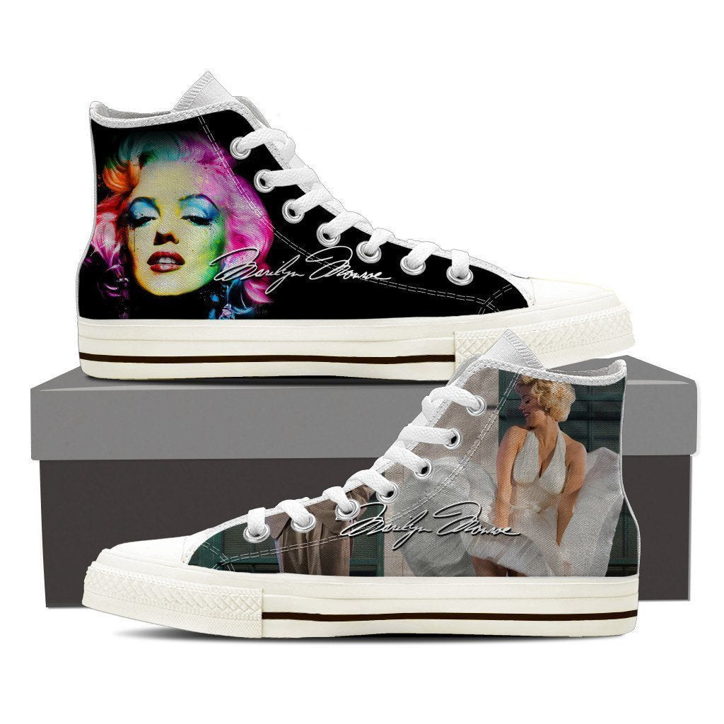 marilyn monroe mens high top sneakers high top