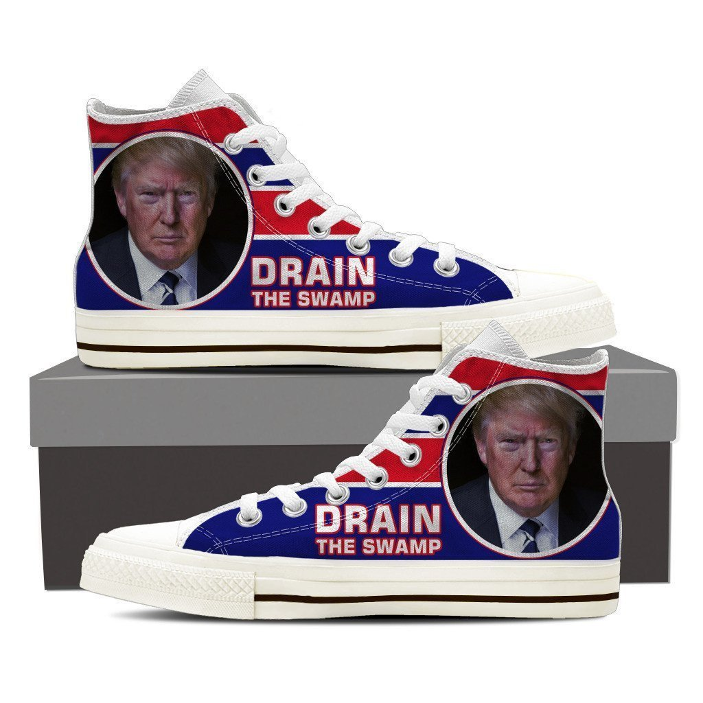 drain the swamp mens high top sneakers high top