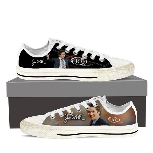 joel osteen mens low cut sneakers