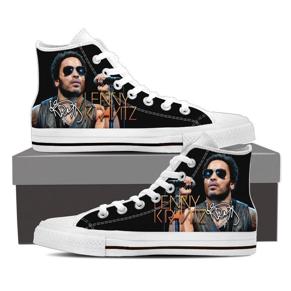 lenny kravitz ladies high top sneakers