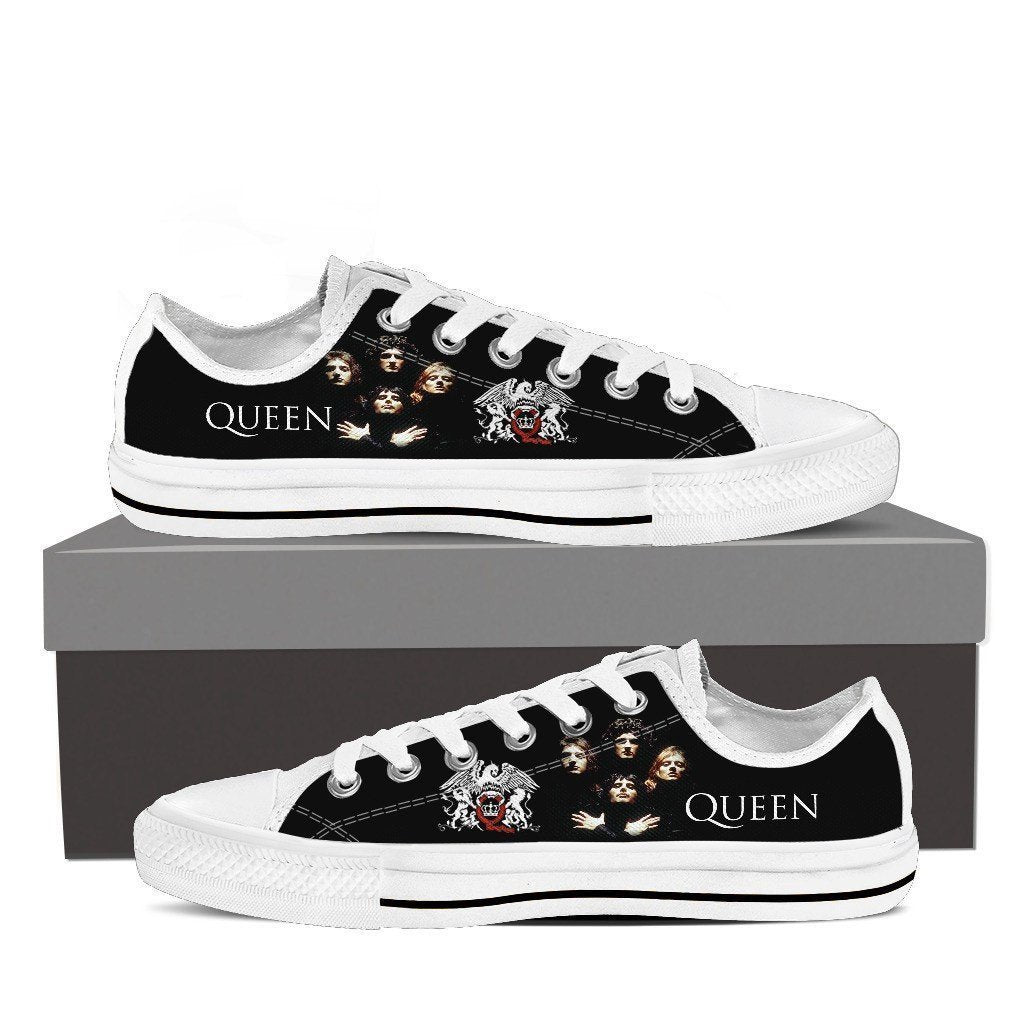 queen band new ladies low cut sneakers