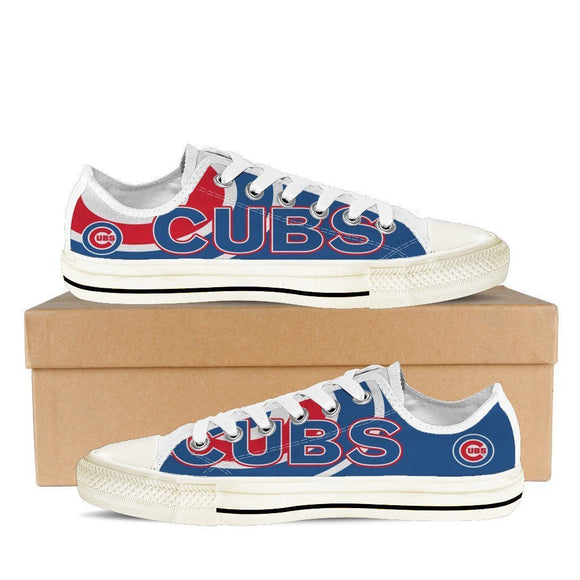 chicago cubs ladies low cut sneakers