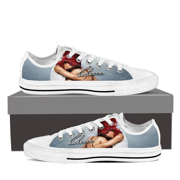 rihanna ladies low cut sneakers