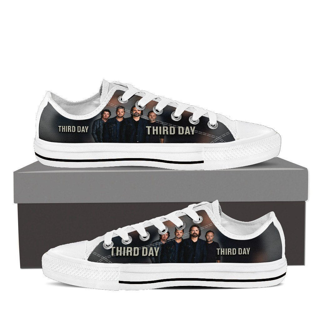 third day band mens low cut sneakers