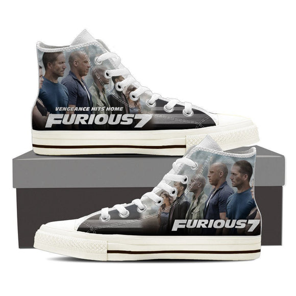 furious 7 ladies high top sneakers