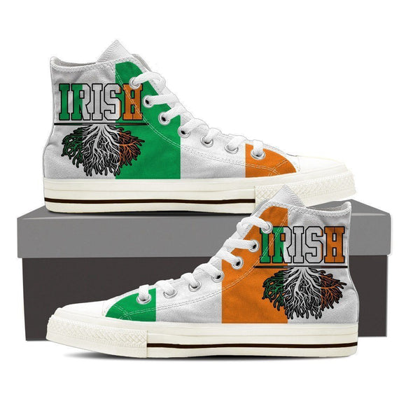irish roots mens high top sneakers high top