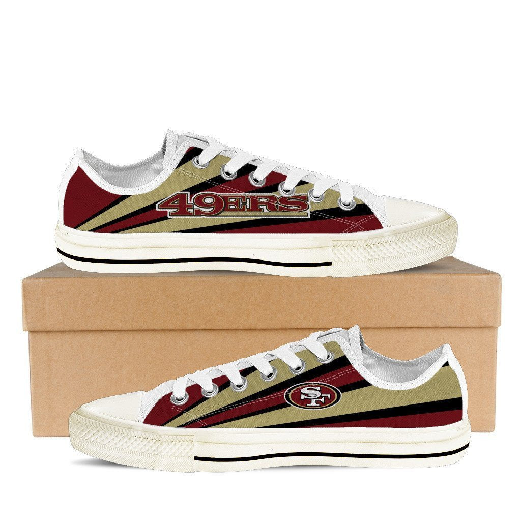 san francisco 49ers mens low cut sneakers