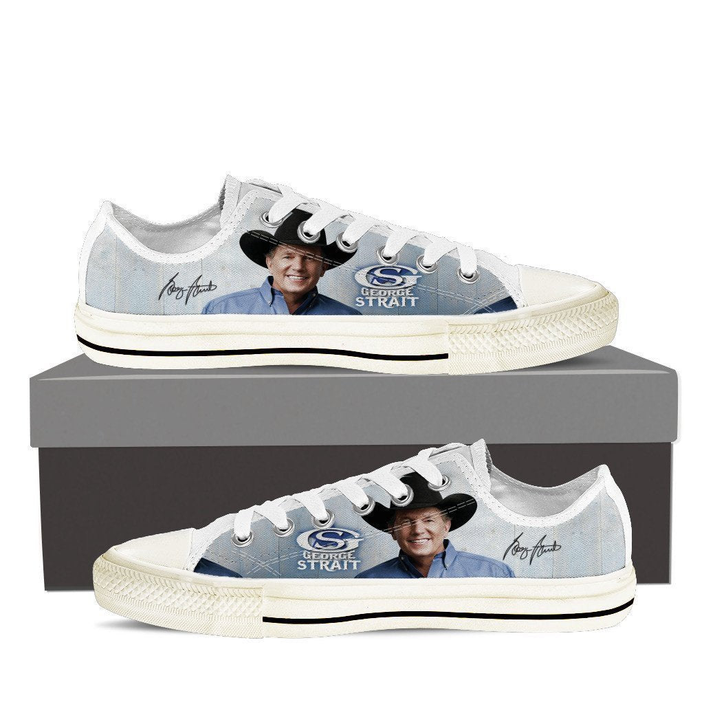 george strait mens low cut sneakers