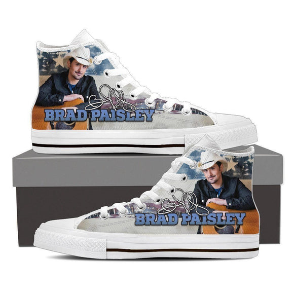 brad paisley ladies high top sneakers