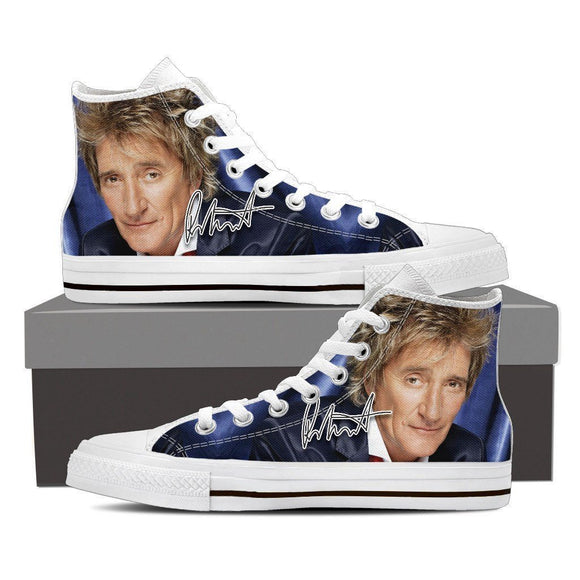 rod stewart ladies high top sneakers