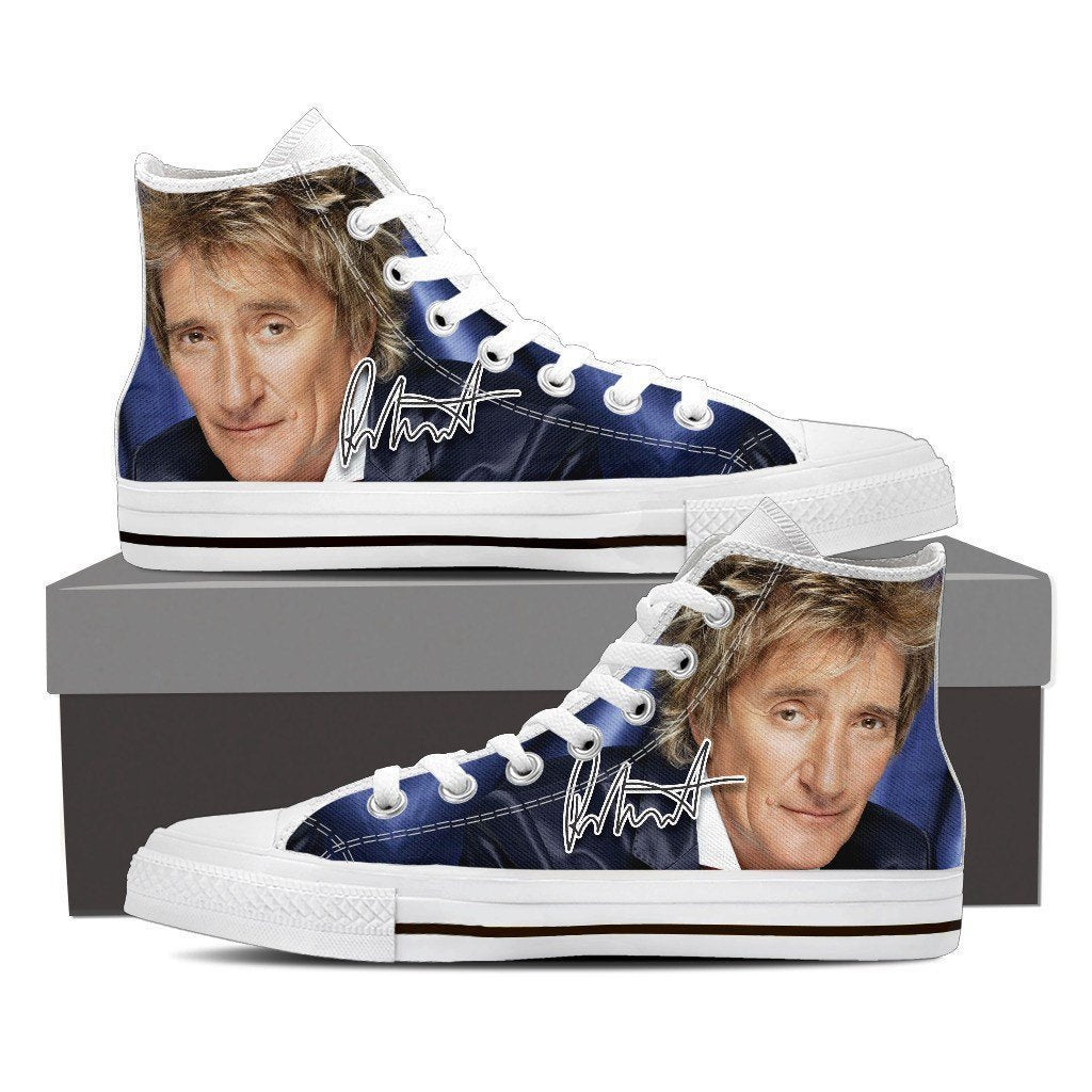 rod stewart mens high top sneakers