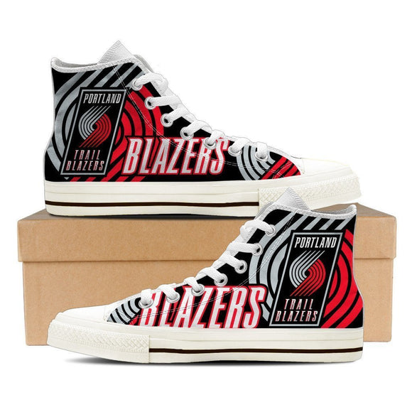 portland trail blazers ladies high top sneakers