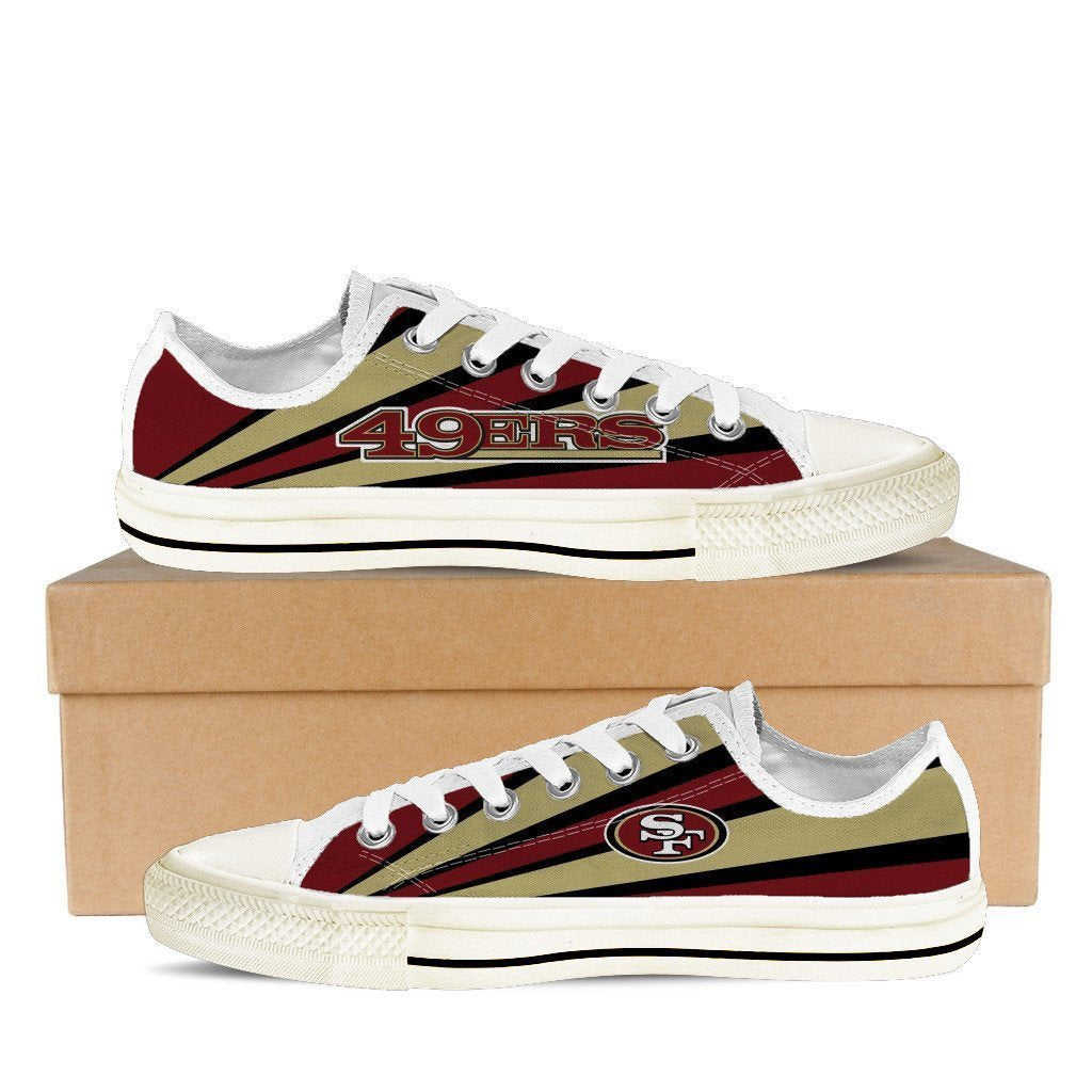 san francisco 49ers ladies low cut sneakers